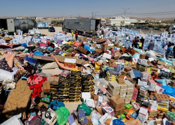 FILE PHOTO: Humanitarian aid is prepared to be delivered to Syria, in the town of Ramtha, Jordan, July 2, 2018. REUTERS/Muhammad Hamed/File Photo
