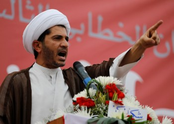 FILE PHOTO: Sheikh Ali Salman, head of Bahrain's largest Shi'ite opposition group Wefaq, speaks to gathering of tens of thousands in the village of Diraz, West of Manama, Bahrain, July 1, 2011. REUTERS/Hamad I Mohammed/File Photo