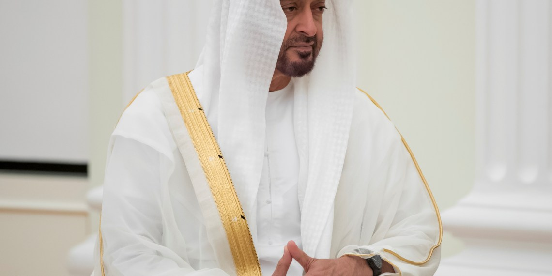 FILE PHOTO: Abu Dhabi's Crown Prince Sheikh Mohammed bin Zayed al-Nahyan of the United Arab Emirates attends a meeting with Russian President Vladimir Putin at the Kremlin in Moscow, Russia June 1, 2018. Pavel Golovkin/Pool via REUTERS