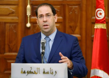 FILE PHOTO: Tunisia's Prime Minister Youssef Chahed attends a news conference in Tunis, Tunisia, October 26, 2018. REUTERS/Zoubeir Souissi