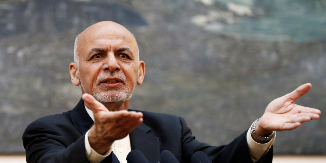 FILE PHOTO: Afghan President Ashraf Ghani speaks during a news conference in Kabul, Afghanistan July 15, 2018. REUTERS/Mohammad Ismail