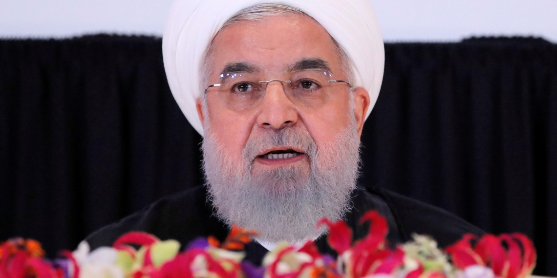 FILE PHOTO: Iran's President Hassan Rouhani speaks at a news conference on the sidelines of the 73rd session of the United Nations General Assembly at U.N. headquarters in New York, U.S., September 26, 2018. REUTERS/Brendan Mcdermid /File Photo