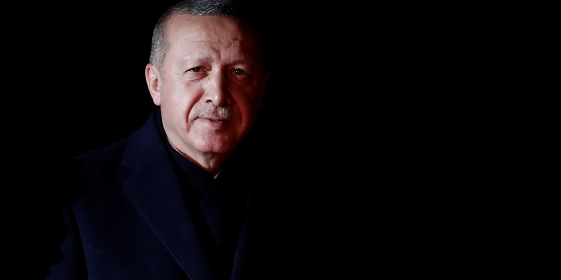 Turkey's President Tayyip Erdogan arrives to attend a visit and a dinner at the Orsay Museum on the eve of the commemoration ceremony for Armistice Day, 100 years after the end of the First World War, in Paris, France, November 10, 2018. REUTERS/Benoit Tessier