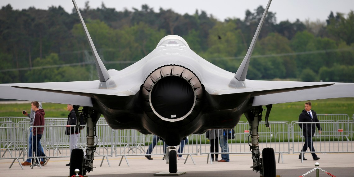 FILE PHOTO: A Lockheed Martin F-35 aircraft is seen at the ILA Air Show in Berlin, Germany, April 25, 2018. REUTERS/Axel Schmidt