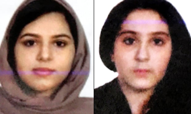 Rotana Farea, 22, and Tala Farea, 16, were discovered on 24 October on the bank of the Hudson river in New York. Composite: NYPD