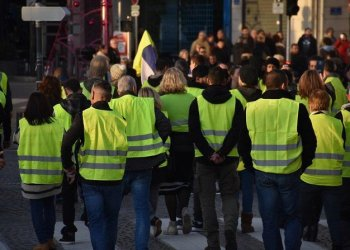 The yellow vests worn by French protesters have become the symbol of the wave of demonstrations that began in November. (Shutterstock)