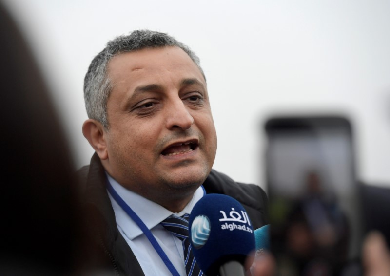 Marwan Dammaj, Yemen's Minister of Culture, speaks to media during the peace talks on Yemen held at Johannesberg Castle, in Rimbo, Sweden, December 7, 2018. TT News Agency/Janerik Henriksson via REUTERS