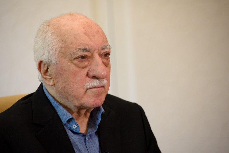 FILE PHOTO: U.S.-based Turkish cleric Fethullah Gulen at his home in Pennsylvania, U.S., July 10, 2017. REUTERS/Charles Mostoller/File Photo