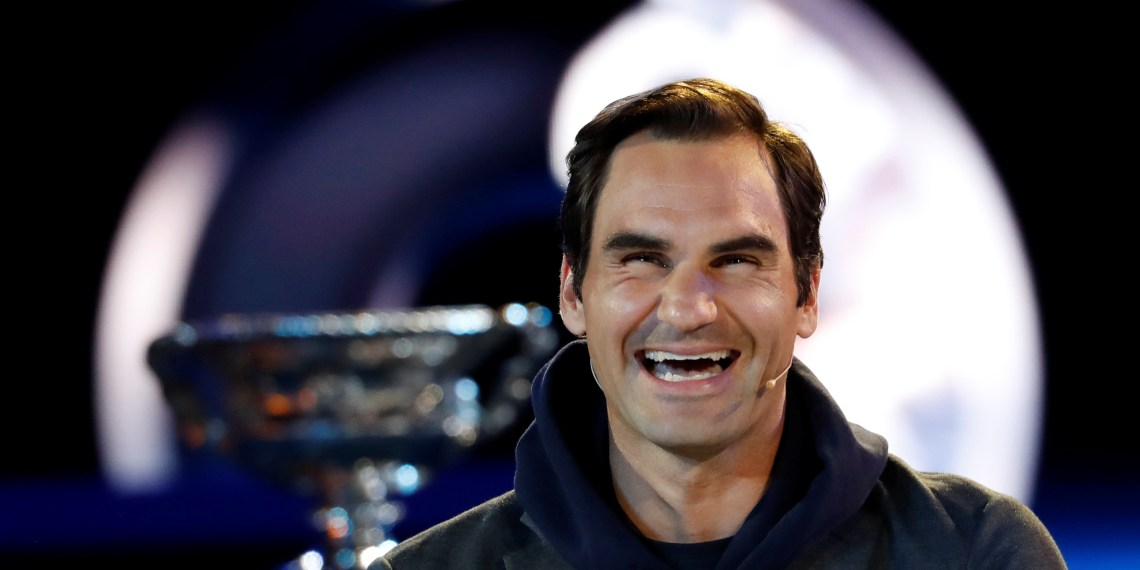 Tennis - Australian Open - Melbourne Park, Melbourne, Australia - January 10, 2019-Defending champion Roger Federer of Switzerland smiles in the official draw of Australian Open 2019.   REUTERS/Kim Kyung-Hoon
