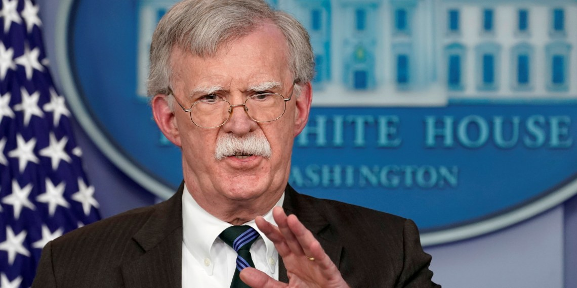 FILE PHOTO: U.S. President Donald Trump's national security adviser John Bolton speaks during a press briefing at the White House in Washington, U.S., November 27, 2018. REUTERS/Kevin Lamarque