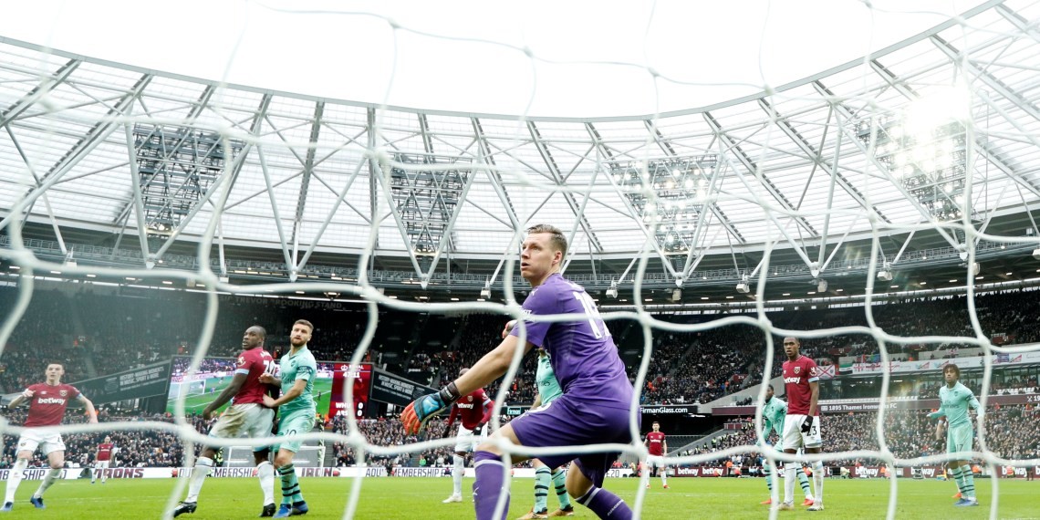 Soccer Football - Premier League - West Ham United v Arsenal - London Stadium, London, Britain - January 12, 2019  West Ham's Declan Rice scores their first goal     Action Images via Reuters/John Sibley