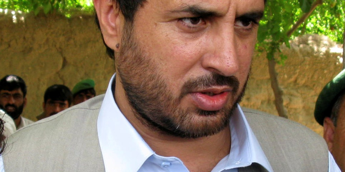 FILE PHOTO: Asadullah Khalid speaks to the media in the Arghandab district of Kandahar province in this June 20, 2008. REUTERS/ Ahmad Nadeem/Files/File Photo