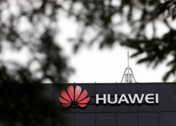 FILE PHOTO: The Huawei logo is pictured outside their research facility in Ottawa, Ontario, Canada, December 6, 2018. REUTERS/Chris Wattie