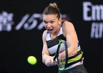 Tennis - Australian Open - Third Round - Melbourne Park, Melbourne, Australia, January 19, 2019. Romania's Simona Halep in action during the match against Venus Williams of the U.S. REUTERS/Lucy Nicholson