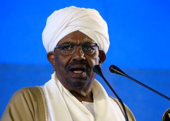 FILE PHOTO: Sudan's President Omar al-Bashir addresses the nation on the eve of the 63rd Independence Day anniversary at the Presidential Palace in Khartoum, Sudan December 31, 2018. REUTERS/Mohamed Nureldin Abdallah/File Photo
