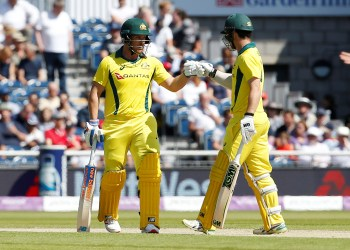 FILE PHOTO: Cricket - England v Australia - Fifth One Day International - Emirates Old Trafford, Manchester, Britain - June 24, 2018 Australia's Aaron Finch and Travis Head Action Images via Reuters/Craig Brough