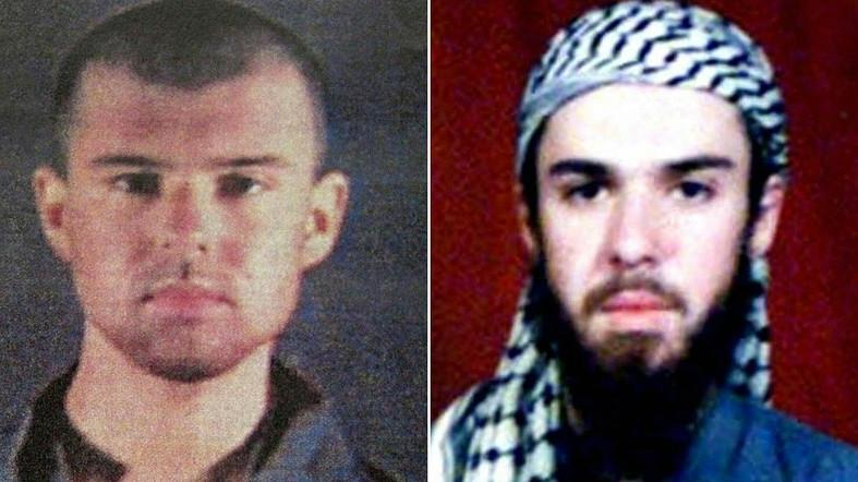 "A combination of pictures of ""American Taliban"" John Walker Lindh taken in 2002. (AFP)"