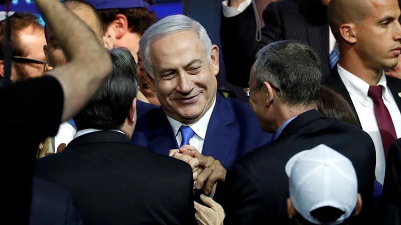 Israeli Prime Minister Benjamin Netanyahu has pledged to annex illegal settlements in the occupied West Bank [Ronen Zvulun/Reuters]