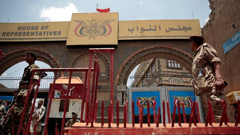 Held in the city of Sayoun, the parliament session was attended by President Abdrabbuh Mansur Hadi. (File photo: AP)