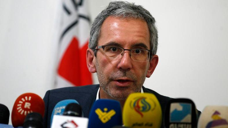 File photo of Dominik Stillhart, ICRC Director of Operations, speaking at a press conference. (AFP)
