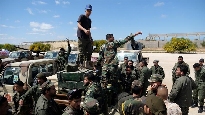 Forces of Haftar's eastern-based Libyan National Army (LNA) launched an assault nearly two weeks ago to seize the capital [Esam Omran Al-Fetori/Reuters]