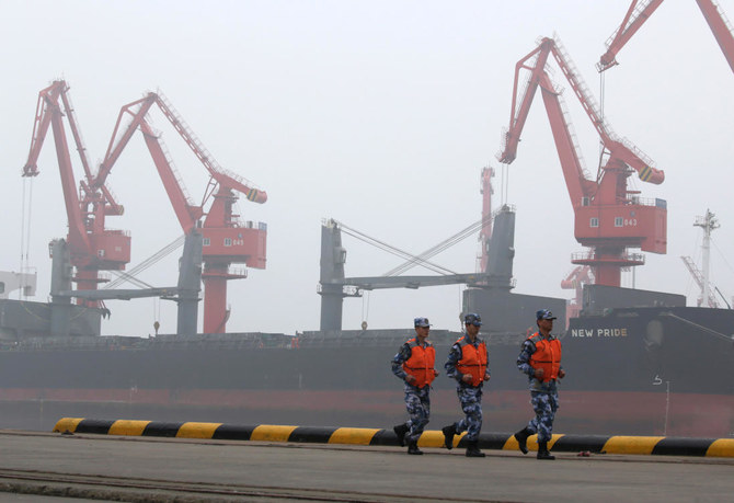 A crude oil tanker is seen at Qingdao Port, Shandong province, China. (Reuters)