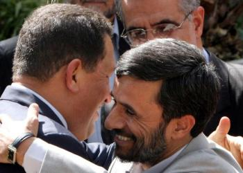 "Ahmadinejad and Chávez began developing ties in the early 2000s, calling each other ""brothers."" (File photo: AP)"