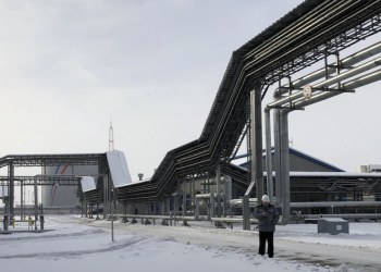 OPEC and non-member producers including Russia have limited their oil output by 1.2 million barrels per day this year to prop up prices. Above, an oil storage tank of Russian oil pipeline company Transneft at the port of Ust-Luga, Russia. (Reuters)
