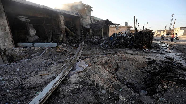 SANA said 15 people were also wounded late Sunday in the attack on Al-Wadihi village south of Aleppo city. (File photo: AFP)