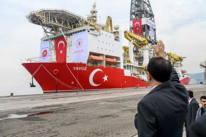 Turkish energy minister said the Yavuz drilling ship would start operations in a week. (AFP)
