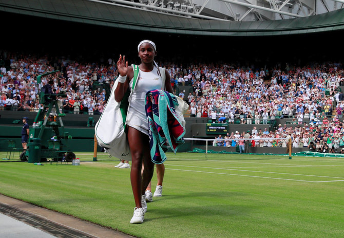 Cori Gauff bowed out of Wimbledon after losing her fourth round match against Romania's Simona Halep. (Reuters)