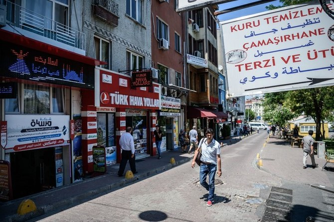 Syrian shopkeepers hope that putting up more signage in Turkish than in Arabic will help ease tensions. (File/AFP)