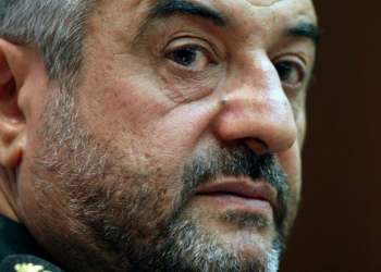 "The downing of a US drone by the IRGC on June 20 demonstrated ""the greatness of the revolution's military achievements,"" according to Jafari. (File photo: AP)"