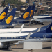 FILE PHOTO: Jet Airways aircraft are seen parked at the Chhatrapati Shivaji Maharaj International Airport in Mumbai, India, April 18, 2019. REUTERS/Francis Mascarenhas/File Photo