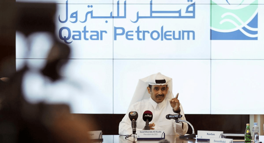 FILE PHOTO: Saad Al Kaabi, chief executive of Qatar Petroleum, gestures during a news conference in Doha, Qatar, December 11, 2016. REUTERS/Naseem Zeitoon/File Photo