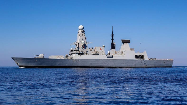A file photo of the British Type 45 Destroyer HMS Duncan which is already working in the region. (File AFP)