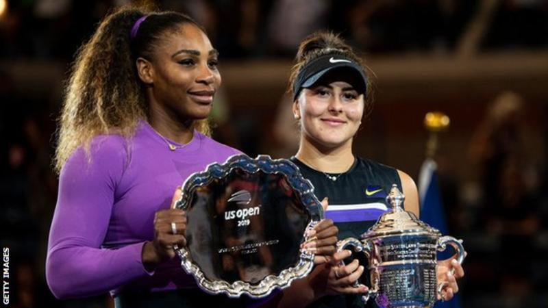 Serena Williams won her first US Open - and Grand Slam - title before Bianca Andreescu was born, with 18 years and 263 days separating them in age