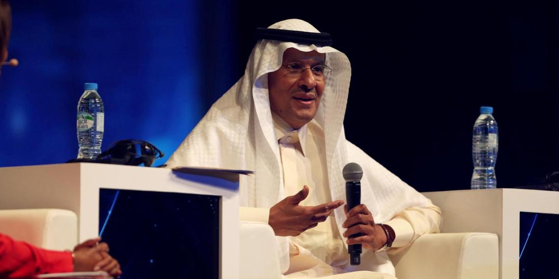 FILE PHOTO: Saudi Arabia's new Energy Minister, Prince Abdulaziz bin Salman speaks during a panel discussion at the 24th World Energy Congress in Abu Dhabi, United Arab Emirates September 9, 2019. REUTERS/Satish Kumar