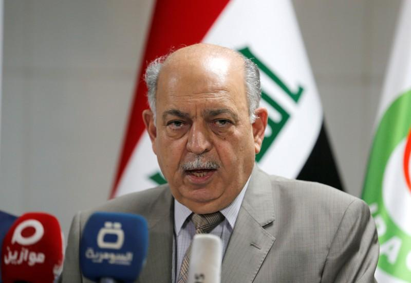 FILE PHOTO: Iraqi Oil Minister Thamer Ghadhban speaks during a news conference in Baghdad, Iraq July 17, 2019. REUTERS/Khalid Al-Mousily/File Photo
