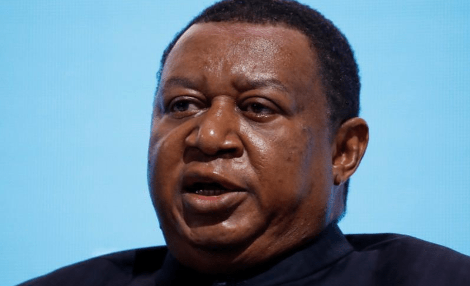 FILE PHOTO: OPEC Secretary General Mohammad Barkindo speaks during a session of the Russian Energy Week international forum in Moscow, Russia October 4, 2018. REUTERS/Sergei Karpukhin/File Photo