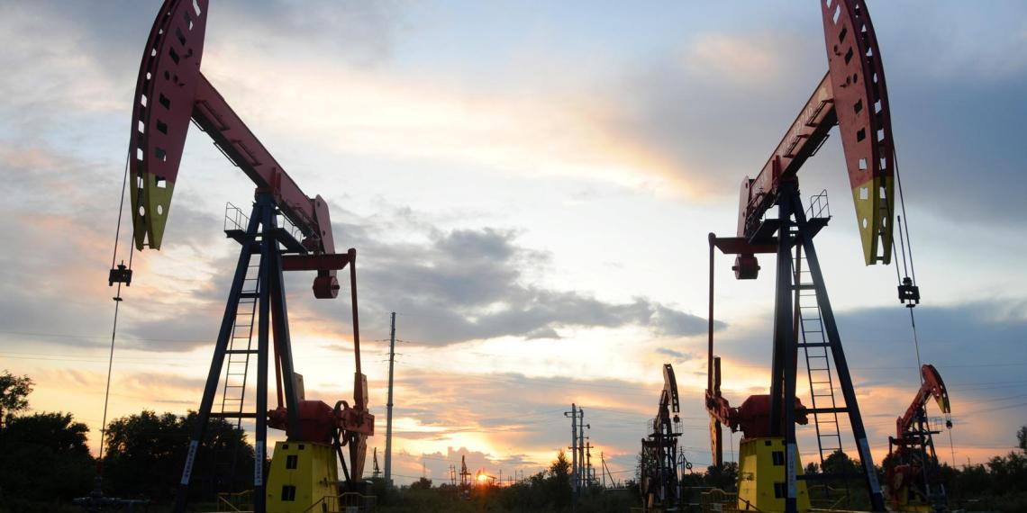 FILE PHOTO: Pumpjacks are seen during sunset at the Daqing oil field in Heilongjiang province, China August 22, 2019. REUTERS/Stringer