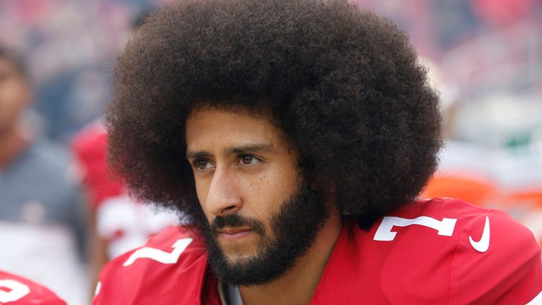 Colin Kaepernick has not played an NFL game since January 2017