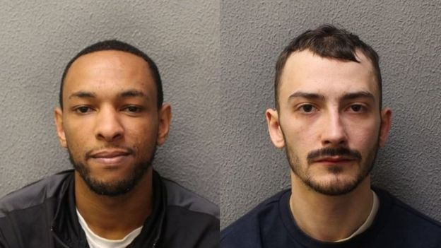 Ashley Smith (left) and Jordan Northover both admitted trying to rob the Arsenal stars