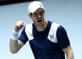 Andy Murray celebrates an epic win against Tallon Griekspoor in Madrid on Wednesday