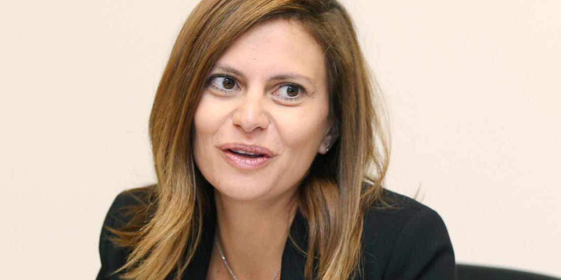 FILE PHOTO: Lebanese Minister of Energy and Water, Nada Boustani Khoury at her office in Beirut, Lebanon, August 21, 2019. REUTERS/Mohamed Azakir/File Photo