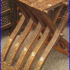 Antique Folding Chair Covers For Hire Glasgow Syrian/arab Hand Carved Inlaid With Mother Of Pearl