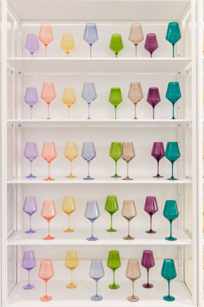 Estelle Colored Glass Colourful Wine Glasses