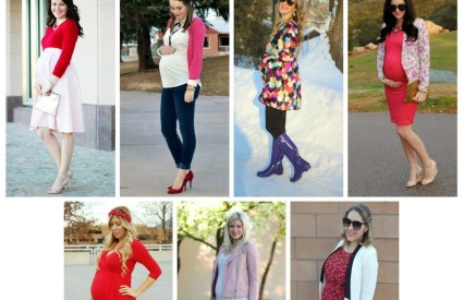 How We Wore It Maternity Style: Valentine's Day