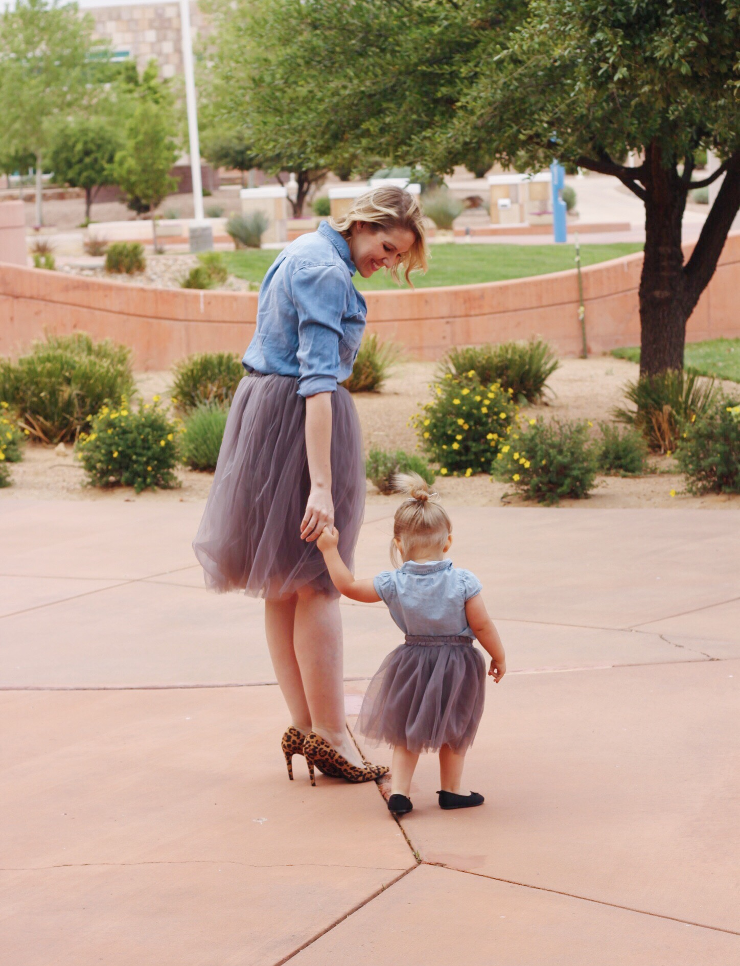 mommy and me tulle skirt outfit
