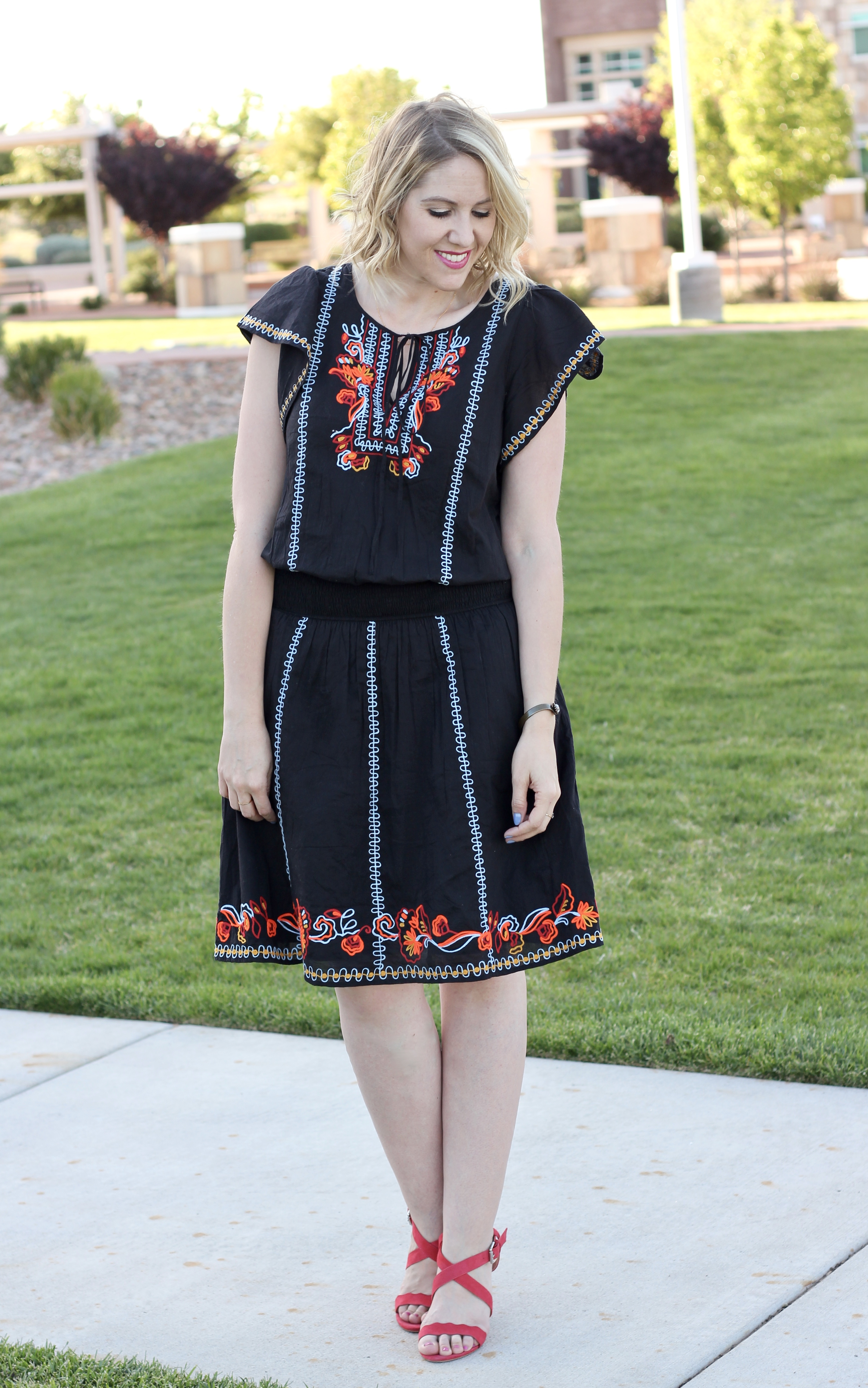 fun and colorful spring dress